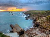 Lizard Point Cornwall Sunset — Stock Photo