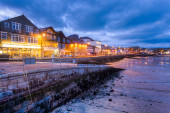 St Ives at Night Cornwall England — Stock Photo