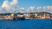 Coast of Rhodes Greece — Stock Photo