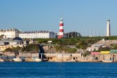 Plymouth Hoe from Mount Batten — Стоковое фото