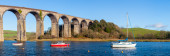 St Germans Viaduct Cornwall — Stock Photo