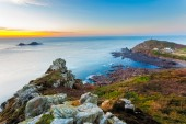 Sunset over Cape Cornwall — Stock Photo