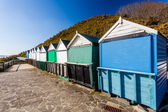 Middle Chine Beach Huts Dorset — Stock Photo