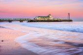 Bournemouth pier sunset — Stock Photo