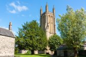 The Parish Church of St Cuthbert Wells — Stock Photo