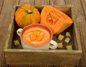 Pumpkin soup — Stock Photo