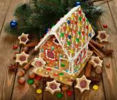 Weihnachten lebkuchenhaus — Stockfoto