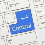 White conceptual keyboard - Control (blue key) — Stock Photo #55780391