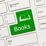 White conceptual keyboard - Books (green key) — Stock Photo #57788365