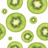 Seamless kiwi background — Stock Photo