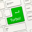 Постер, плакат: White conceptual keyboard Turbo green key