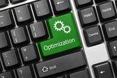 Conceptual keyboard - Optimization (green key) — Stock Photo