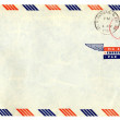 Airmail letter with american stamp — Stock Photo #57513221