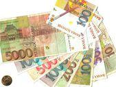 Slovenia, banknotes and coin — Stock Photo