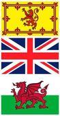 British flags — Stock Photo