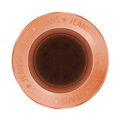 Vector denim bronze sewing button in vintage style — 图库矢量图片