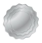 Vector silver medal that can be used as a seal, the price tag, label or badge — Stock Vector