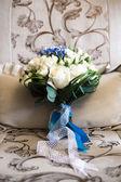The bouquet sashes light blue white — Stock Photo