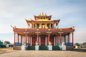 Tsogchen-Arm - the main cathedral church Ivolginsky datsan, Buryatia. Russia — Foto Stock