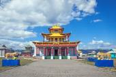 Tsogchen-Arm - the main cathedral church Ivolginsky datsan, Buryatia. Russia — Stock Photo