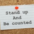 Stand Up and Be Counted — Stock Photo #52458499
