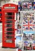 Postcards of London — Stock Photo