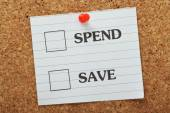 Spend or Save? — Stock Photo