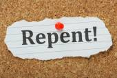 Repent! — Stock Photo