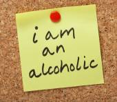 I am an alcoholic — Stock Photo