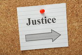 Justice This Way — Stock Photo