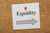 Equality This Way — Stock Photo