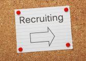 Recruiting This Way — Stock Photo