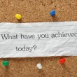 What have you achieved today? — Stock Photo #54265157