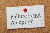 Failure is not an option — Stock Photo