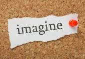 The word Imagine — Stock Photo