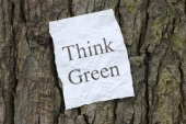 Think Green Message — Stock Photo