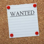 Wanted Notice — Stock Photo