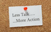 Talk versus Action — Stock Photo