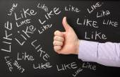 Thumbs Up For Likes — Stock Photo