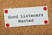 Good Listeners Wanted — Stock Photo