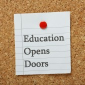 Education Opens Doors — Stock Photo
