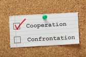 Cooperation versus Confrontation — Stock Photo