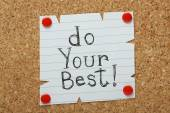 Do Your Best! — Stock Photo