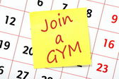 Join a Gym Reminder — Stock Photo