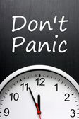 Don't Panic about Deadlines — Stock Photo