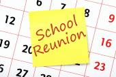 School Reunion Reminder — Stock Photo