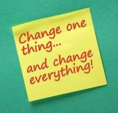 Change One Thing — Stock Photo