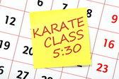 Karate Class Reminder — Stock fotografie