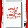 What is Your Marketing Strategy? — Stock Photo #59699669
