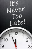 It's Never Too Late — Stock Photo